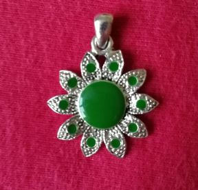 Green Flower Pendant